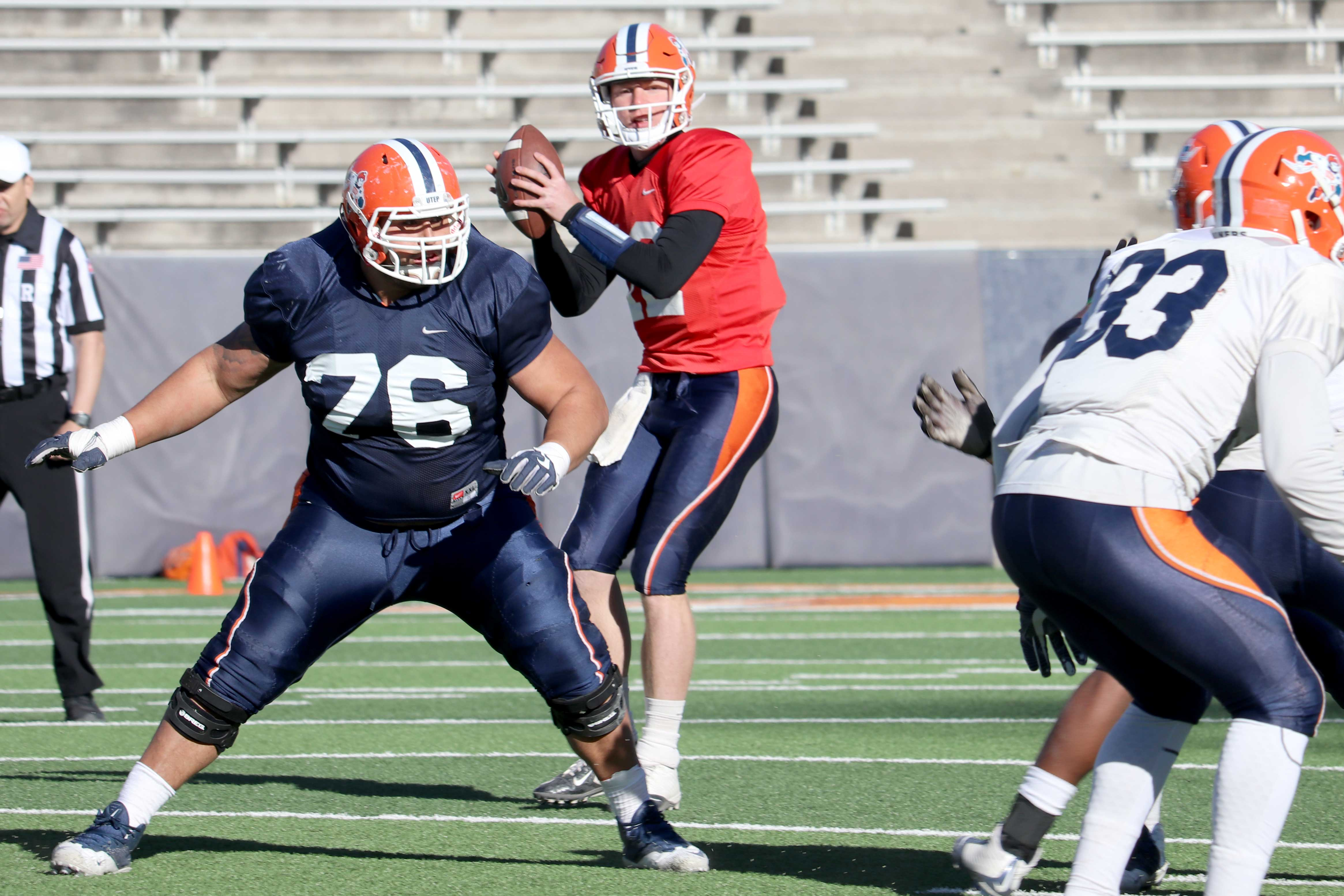 In his junior season, quarterback Ryan Metz enters spring practice for the first time knowing that he is the starting quarterback for the Miners.