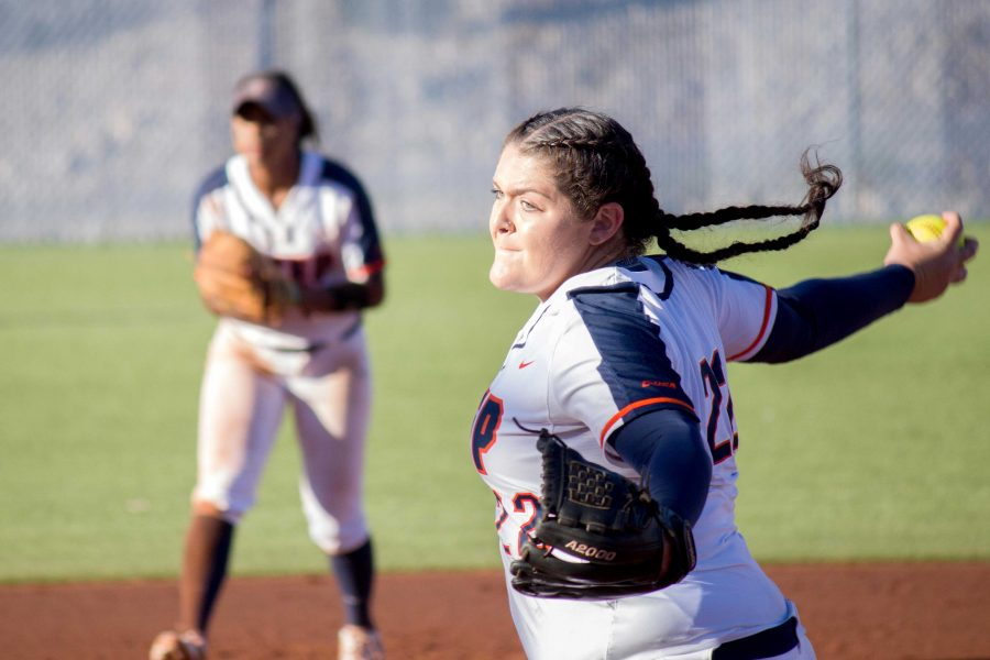 Miner+softball+splits+Saturday+series+with+Southern+Miss