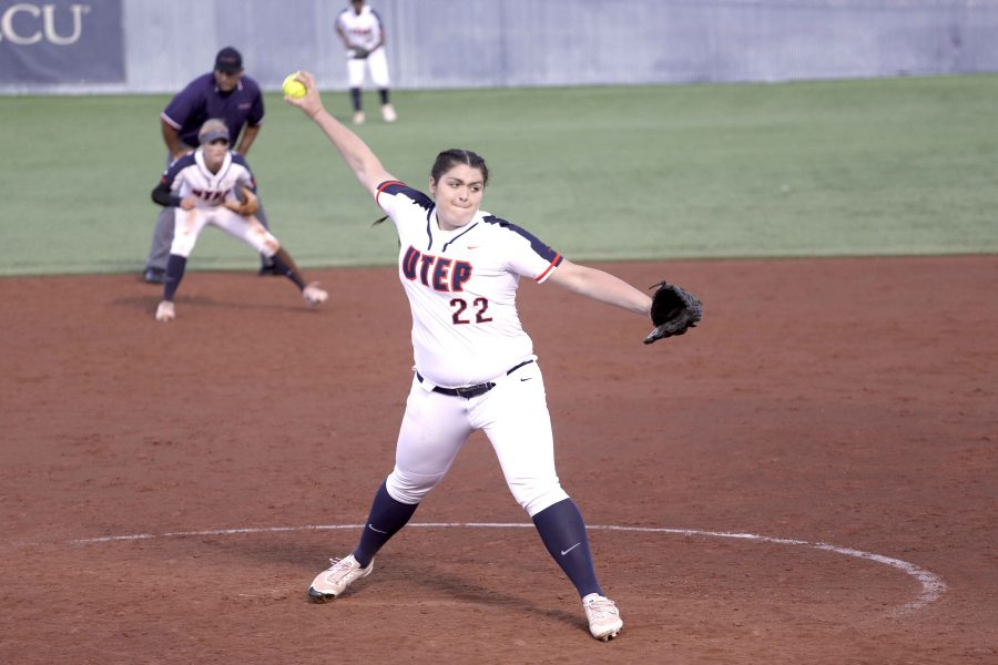 Pitcher Devyn Cretz leads UTEP in wins (5) and strikeouts (34) as a freshman.