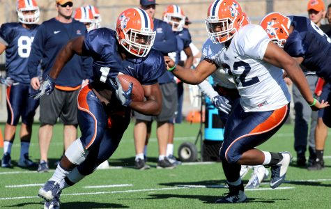 Spring football wraps up first week of practice