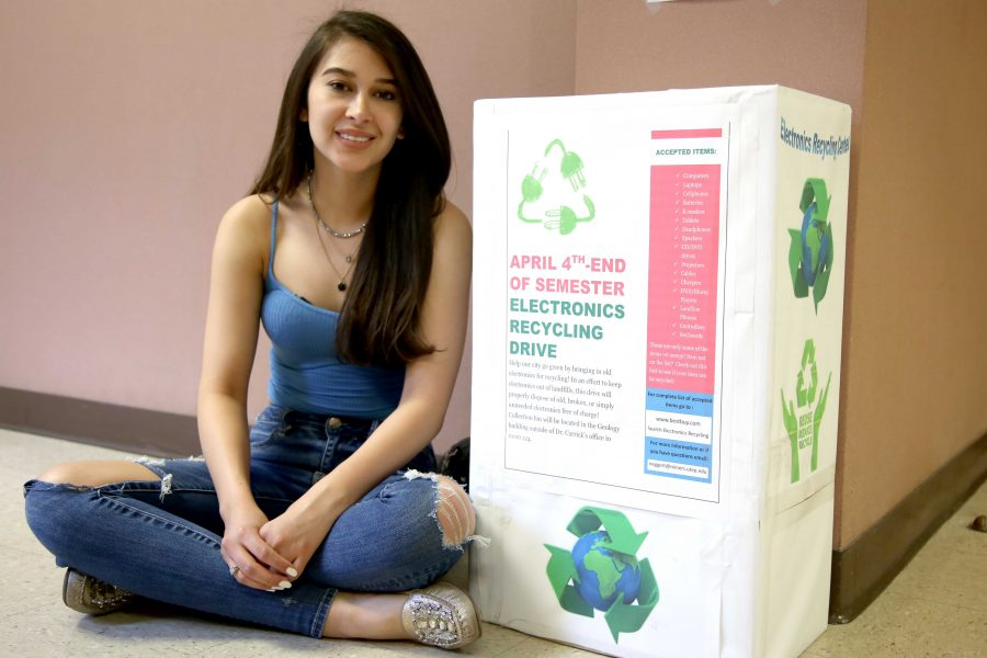 UTEP student brings e-waste recycling to campus