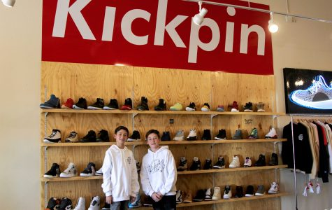 Young entrepreneurs sell collectable shoes in EP