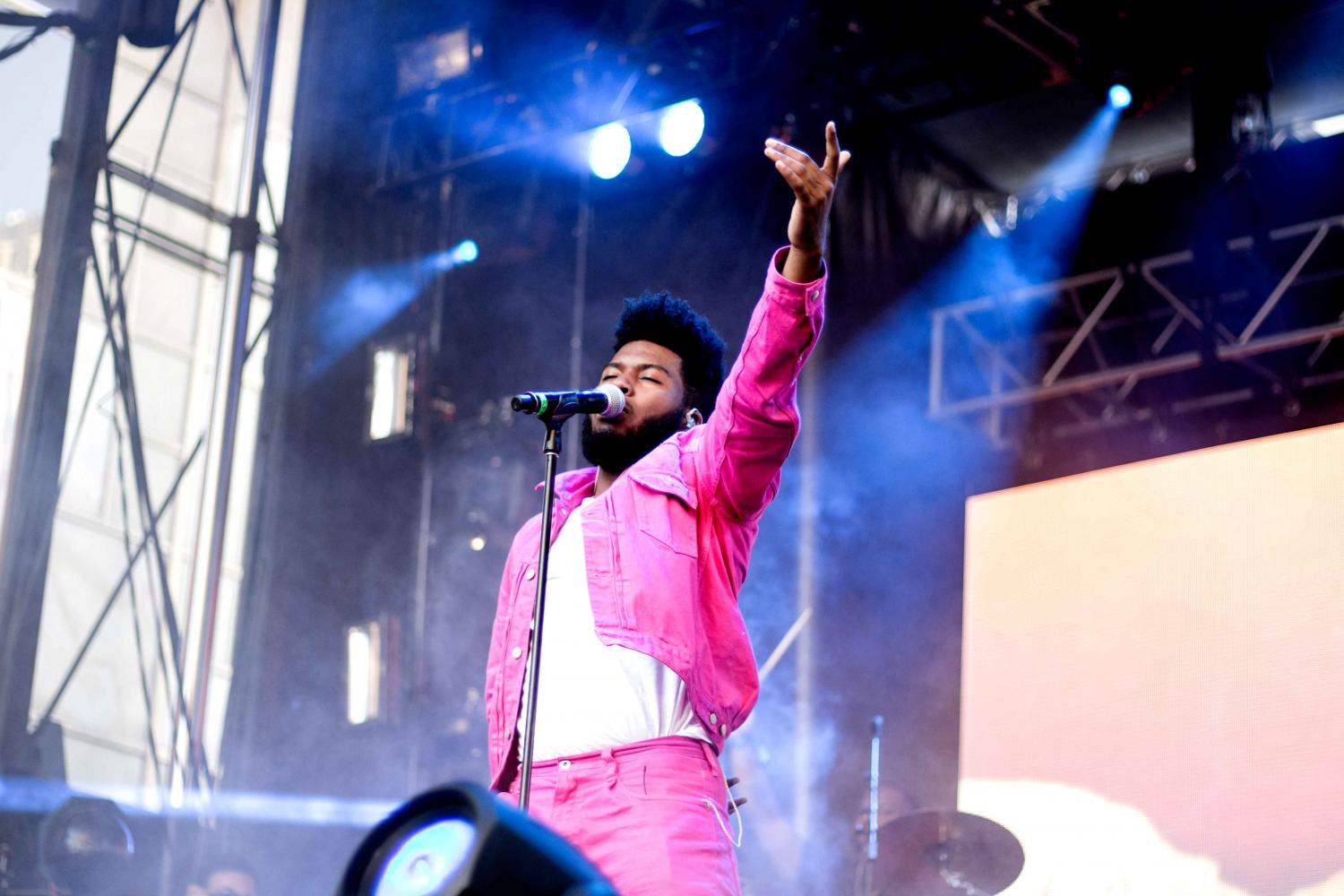 Khalid performs on the second day of Neon Desert Music Festival 2017 on Sunday, May 28.