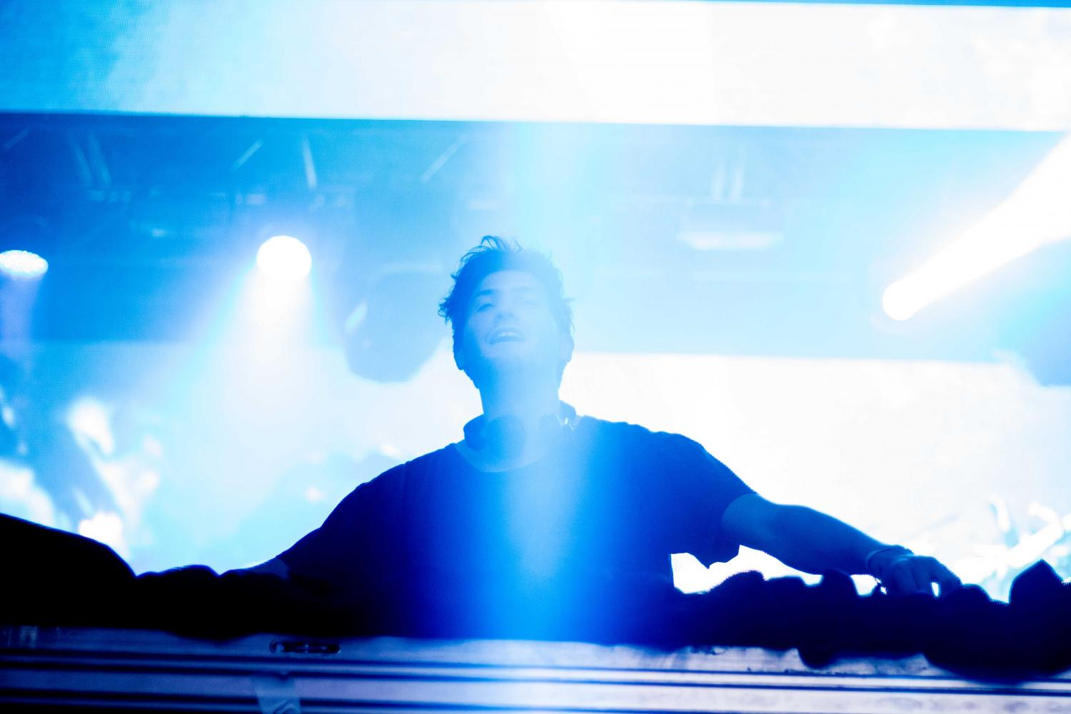 Baauer performs on day two of Neon Desert Music Festival 2017.