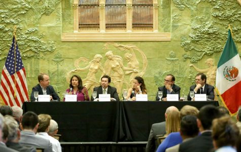 Brian Winter editor-in-chief of Americas Quarterly held a panel discussion on Washington and the Future of the U.S.-Mexico Border at the Mills building on Thursday, June 8.