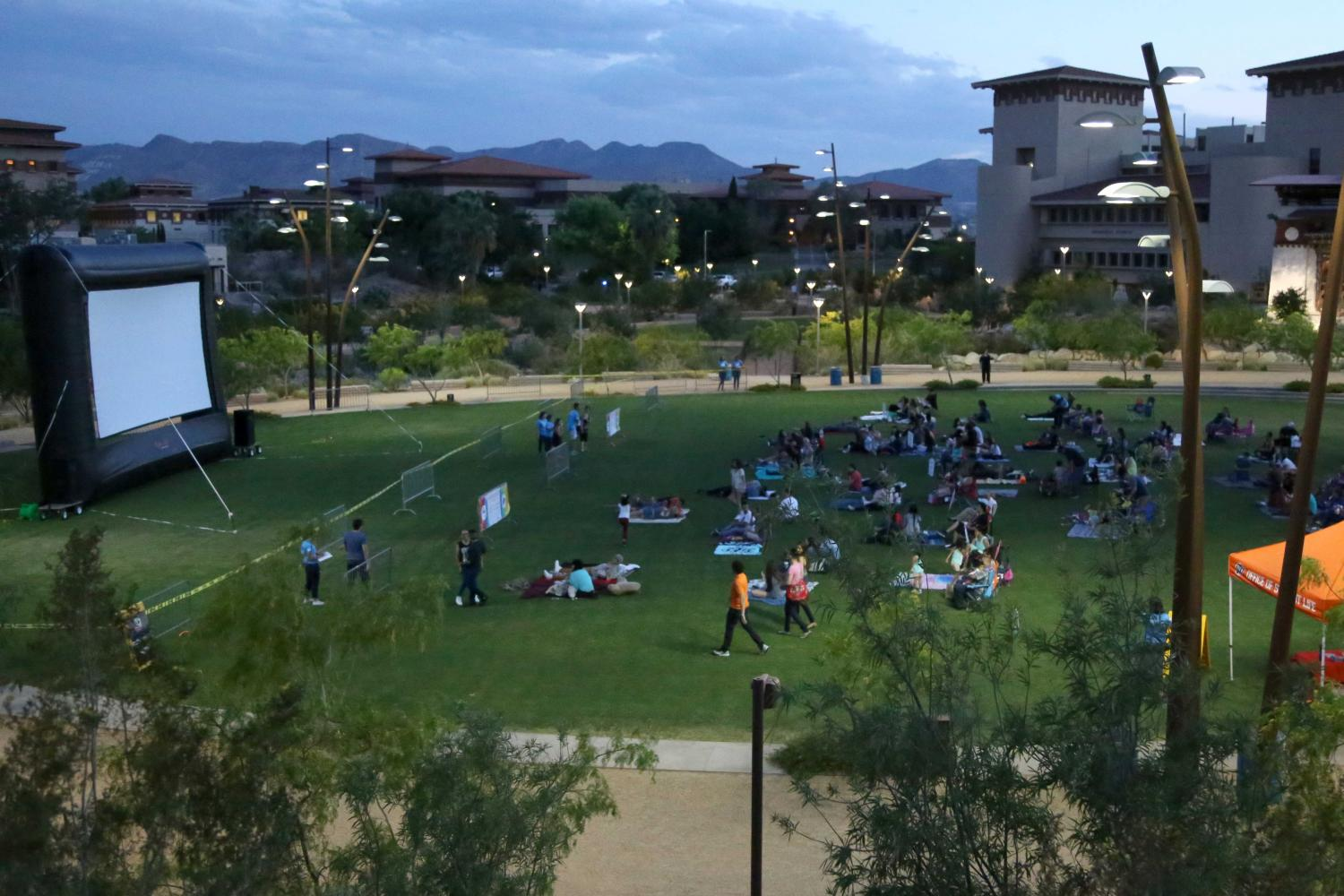 Movies on the lawn features movies shown at UTEP's Centennial Plaza with two more summer showings