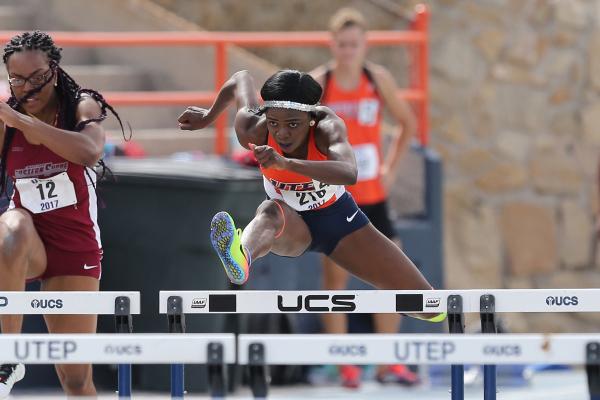 Sophomore hurdler Amusan wins NCAA title in 100-meter hurdles.
