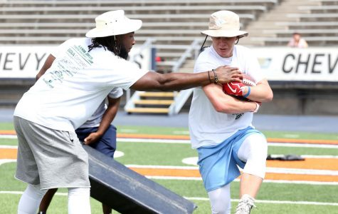 Aaron Jones held a camp for elementary, middle and high schoolers on Saturday, July 22.