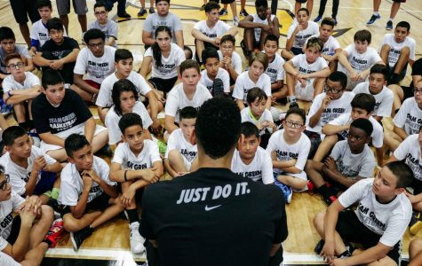 San Antonio Spurs player Danny Green held a Q&A with young basketball players during his Basketball Skills Camp.