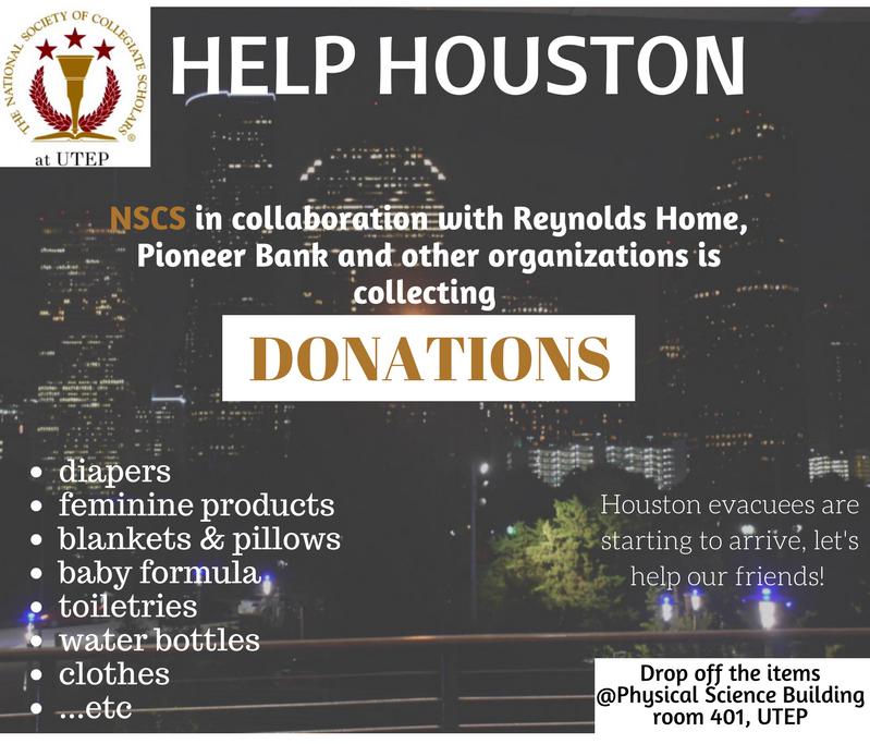 UTEP organization starts donation drive for hurricane victims