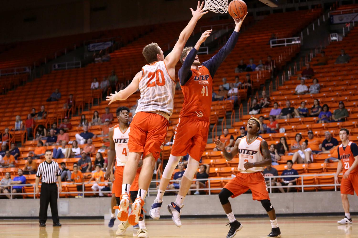 UTEP+basketball+veterans+prevail+over+newcomers+in+scrimmage
