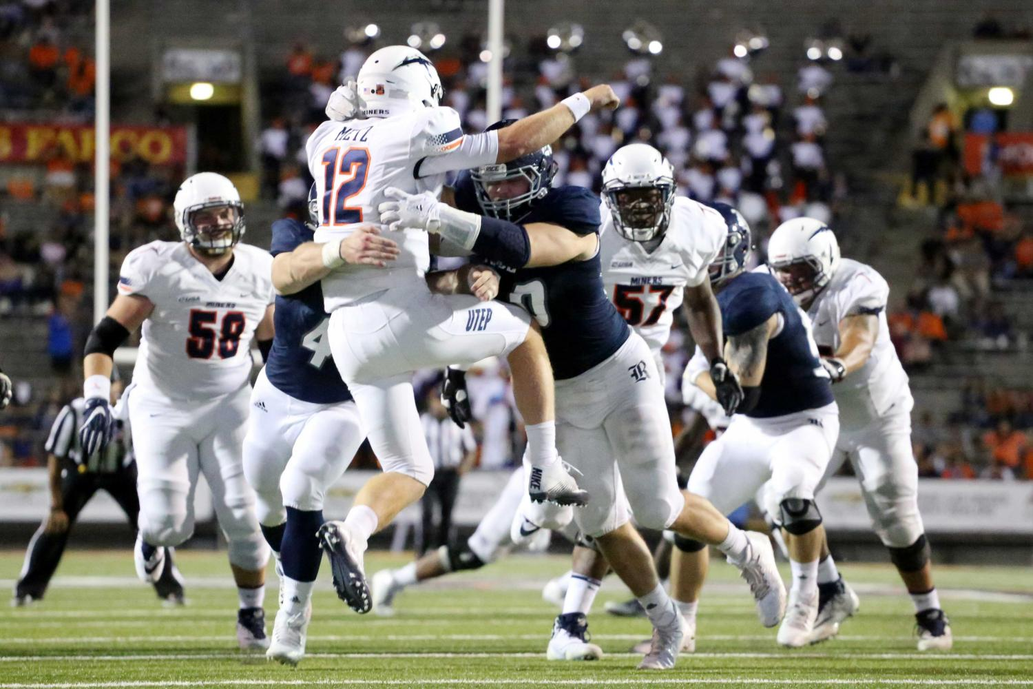 Miners lose physical battle to Rice in home opener