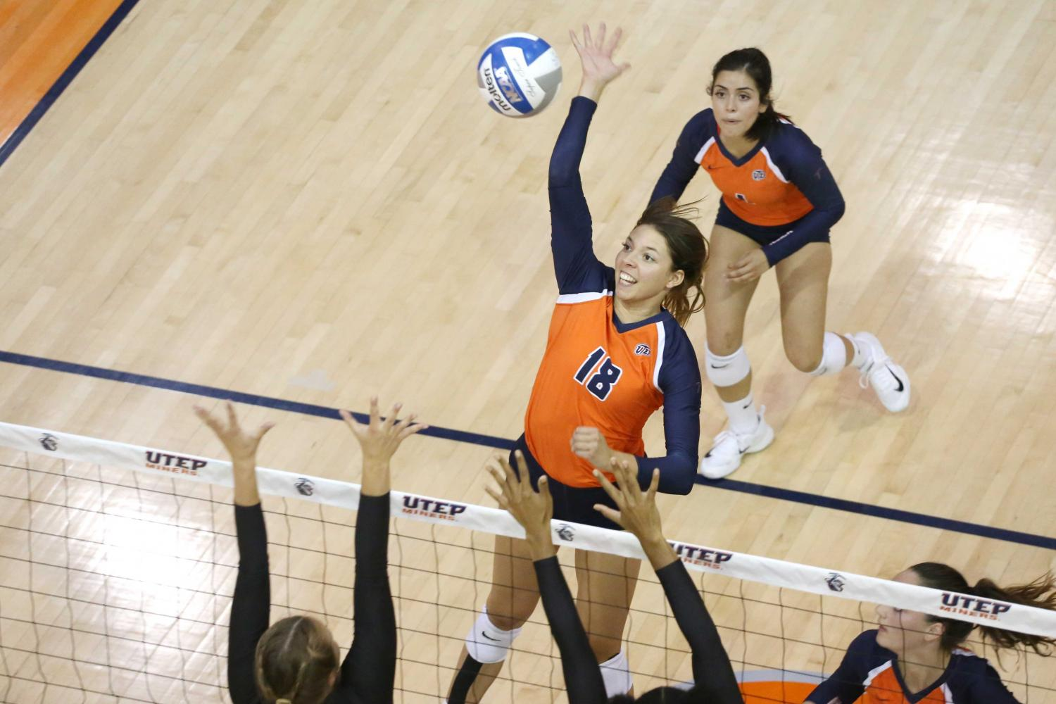 UTEP+volleyball+cruises+past+Delaware+State