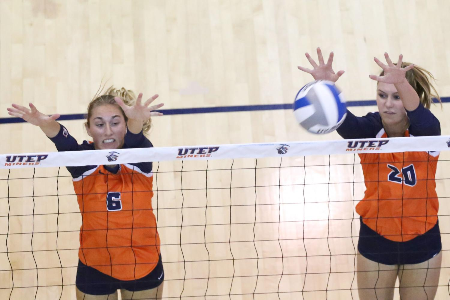 Women's volleyball falls to rival NMSU