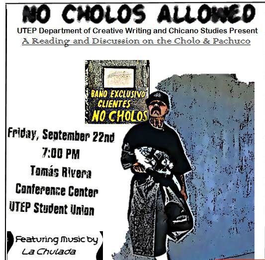 'No Cholos Allowed' reading will explore Cholo life and art