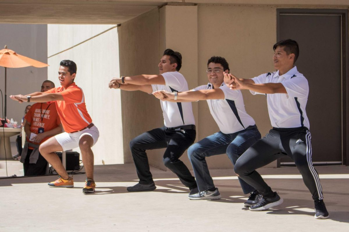 Members+of+UTEP+student+organizations+and+Greek+life+competed+during+today%E2%80%99s+homecoming+lip-syncing+battle+at+the+Union.