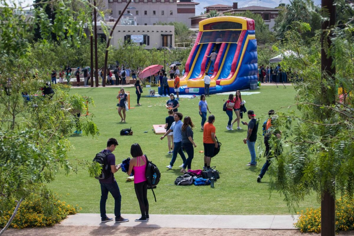 Students and faculty enjoyed a variety of activities as well as food and drink after the pep rally performance.