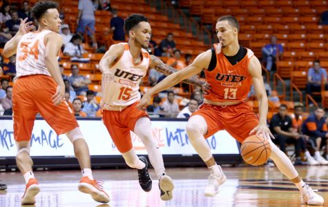 Team White escapes with win after late-game shot in Orange-White scrimmage