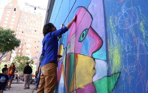 Chalk the Block's 10th anniversary will feature artists from all around the United States, including New York-based artists Yoko Ono and Scott Cohen. which over looks the East side of El Paso.