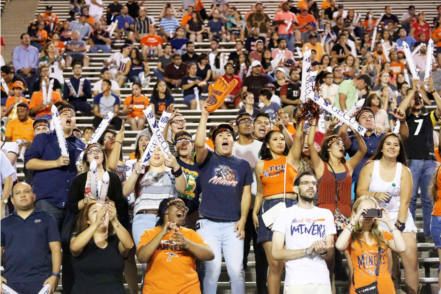 The student section at the UTEP football games has been declining in recent years.