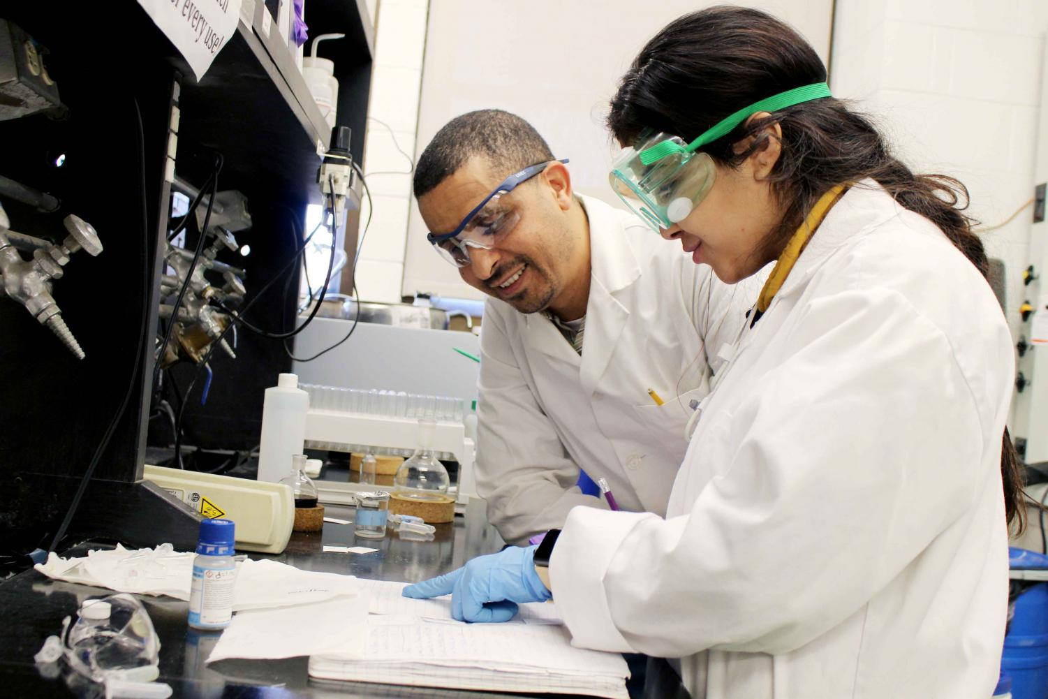 Chemistry professor Rachid Skouta received more than $109,300 for a two-year study on lung cancer.