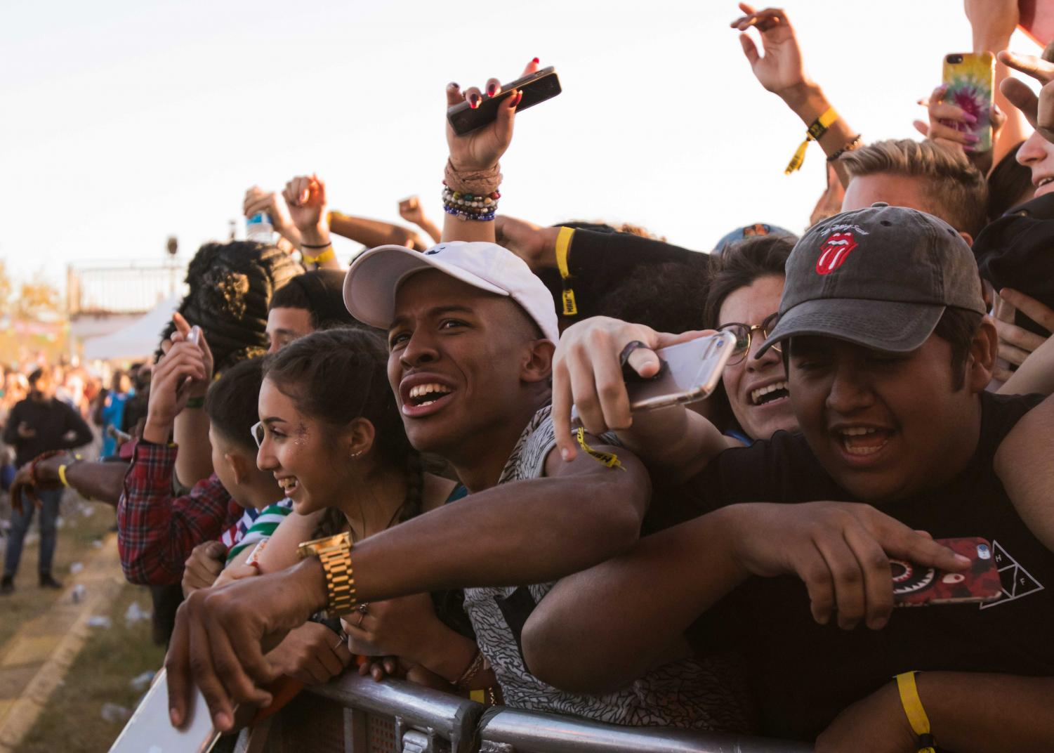 Die-hard fans squeezed together in the front of the crowd to watch artists perform at Mala Luna Festival.