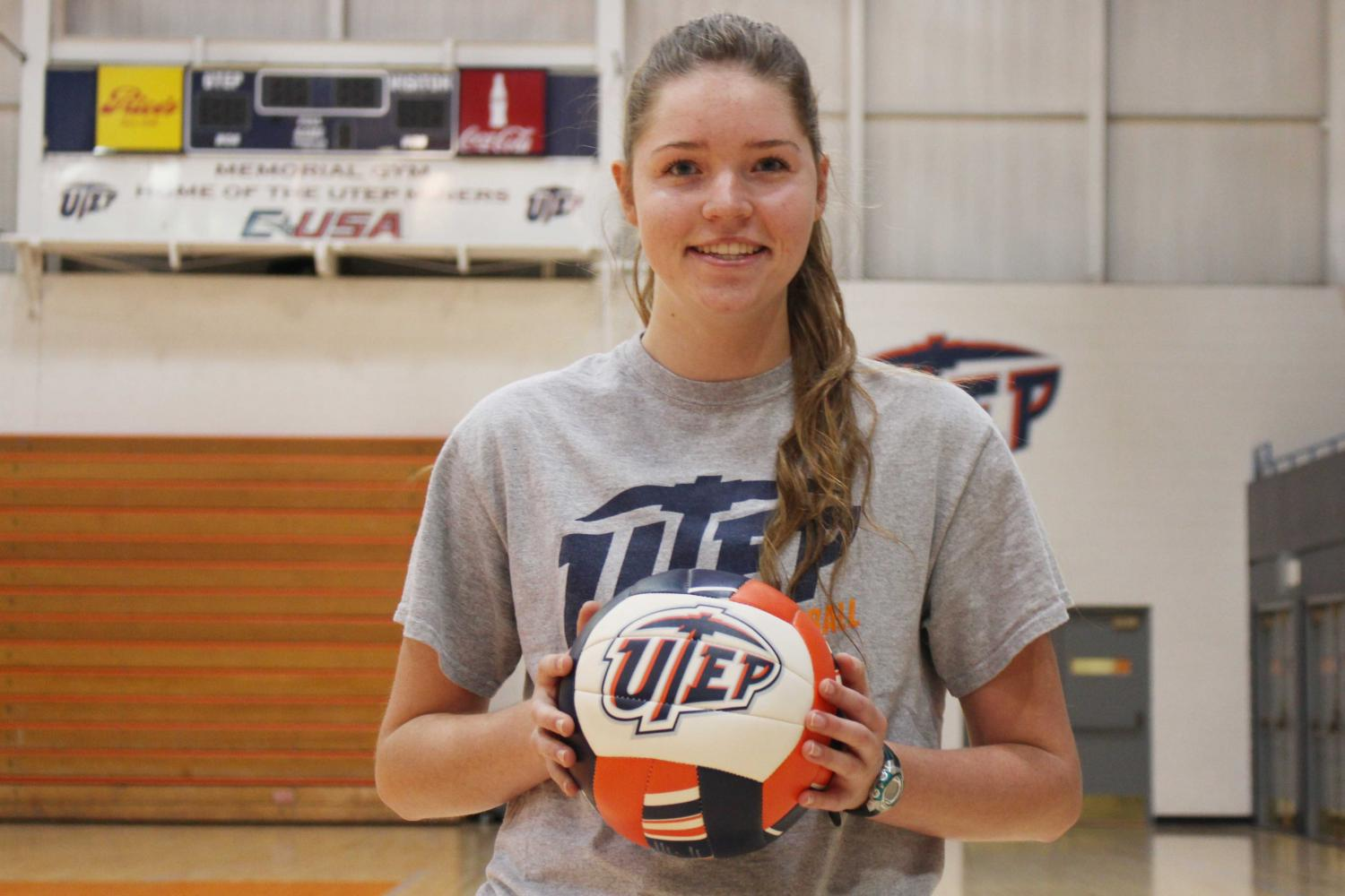 Sophomore Macey Austin has developed into a top player for the UTEP volleyball team.