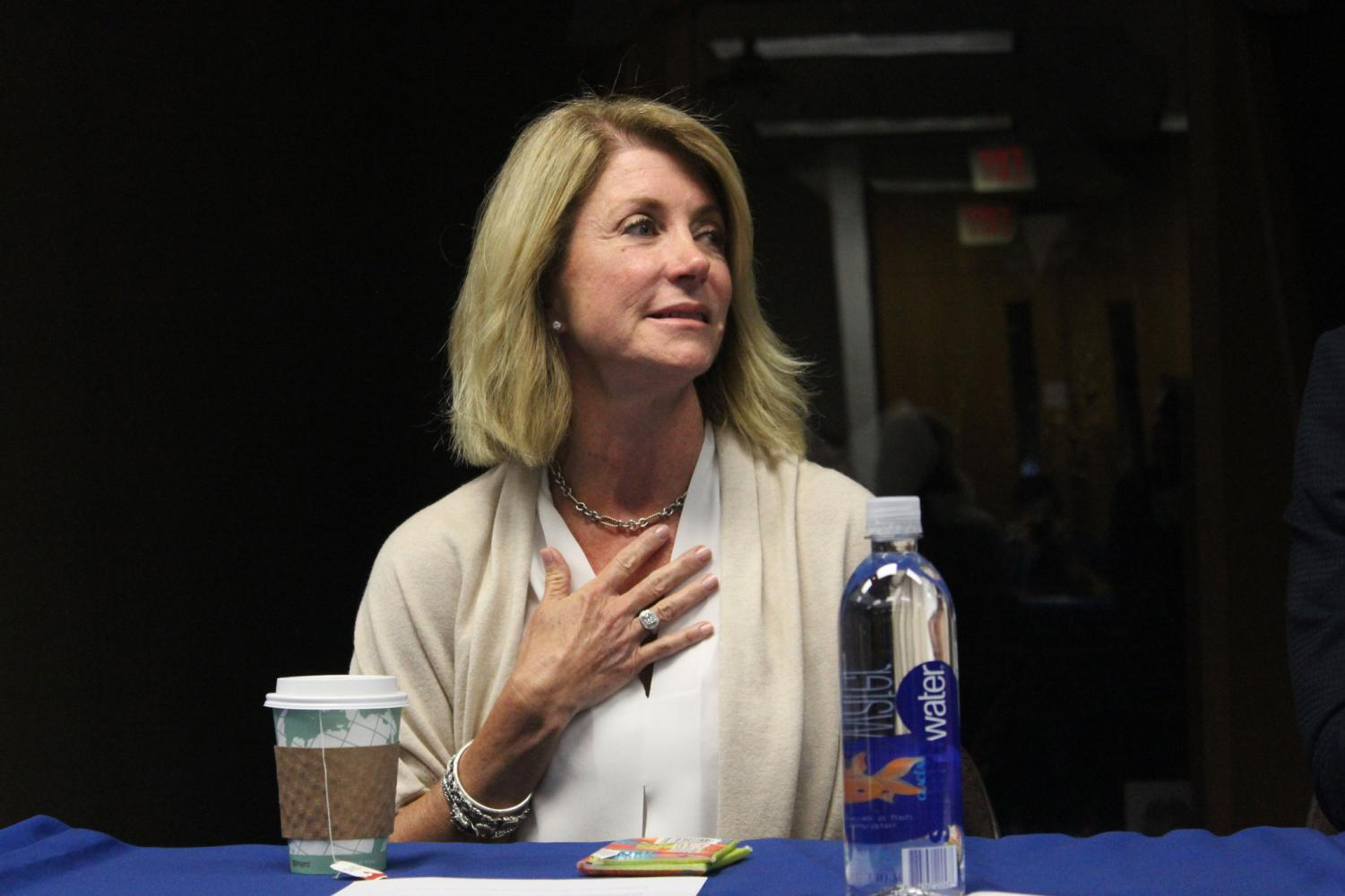Wendy Davis was the keynote speaker at the Lies into Laws campus forum on Tuesday, November 14.