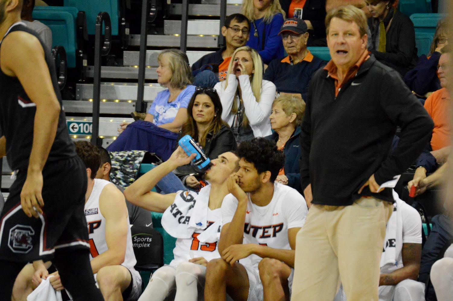 Head coach Tim Floyd and the men's basketball team struggled in their second game of the Puerto Rico Tip-off in Myrtle Beach, SC.