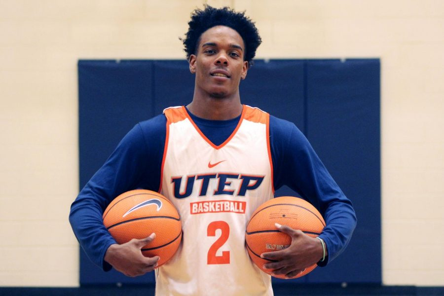 Senior guard and team captain Omega Harris has scored 1,041 points in 88 games with the Miners in three seasons.