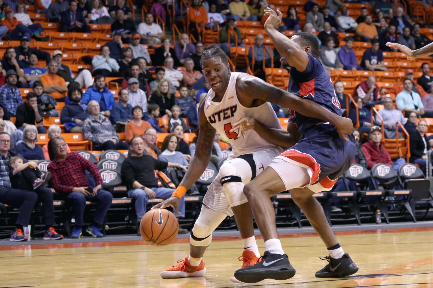 Tirus Smith utilizes his footwork to get away from a Howard defender for two points.