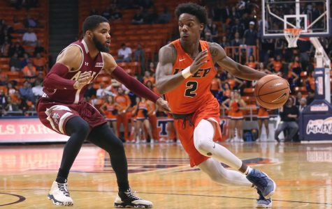 Senior guard Omega Harris is coming off a career-high 28 point performance against New Mexico this past Saturday night.
