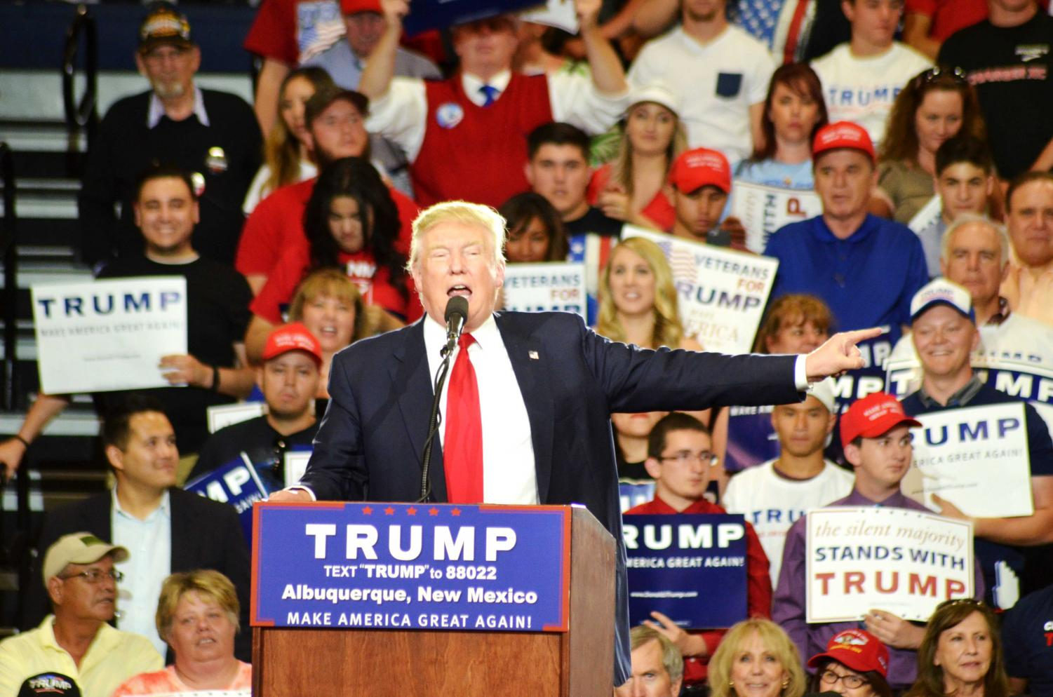 President Donald Trump holds rally in Albuquerque, New Mexico on Tue. May 24.