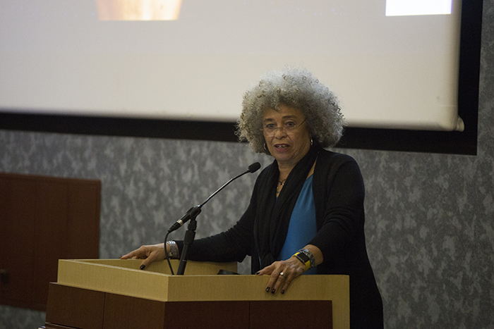 Angela+Davis+spoke+at+UTEP+on+Wednesday%2C+Feb.+7+as+part+of+a+Black+History+lecture+series+hosted+by+the+African+American+Studies+department+and+the+Black+Student+Union.+