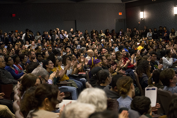 Hundreds attended the Angela Davis lecture at UGLC on Wednesday, Feb. 7.