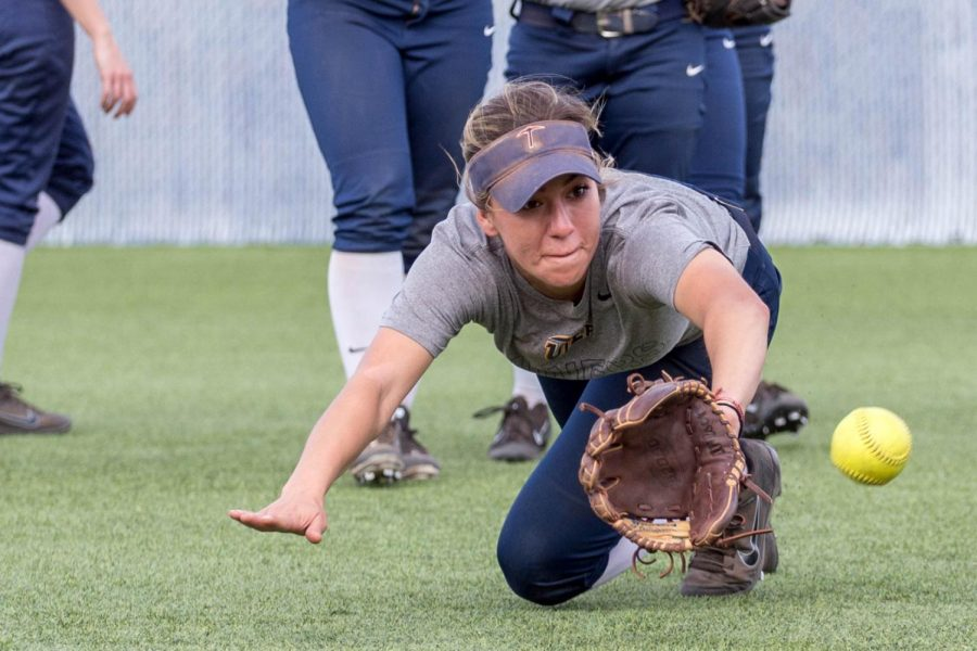UTEP softball player Ariel Blair leads the team in stolen bases with six.