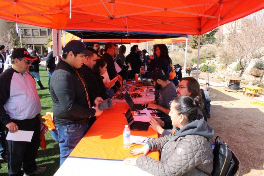 Students celebrate Orange and Blue Day
