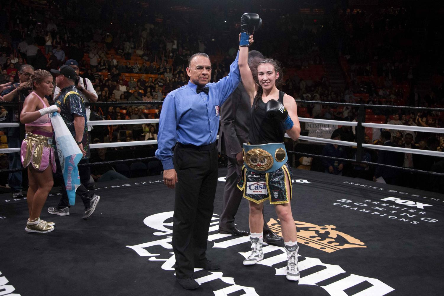 Jennifer Han is victorious in defending her IBF World  Featherweight title.