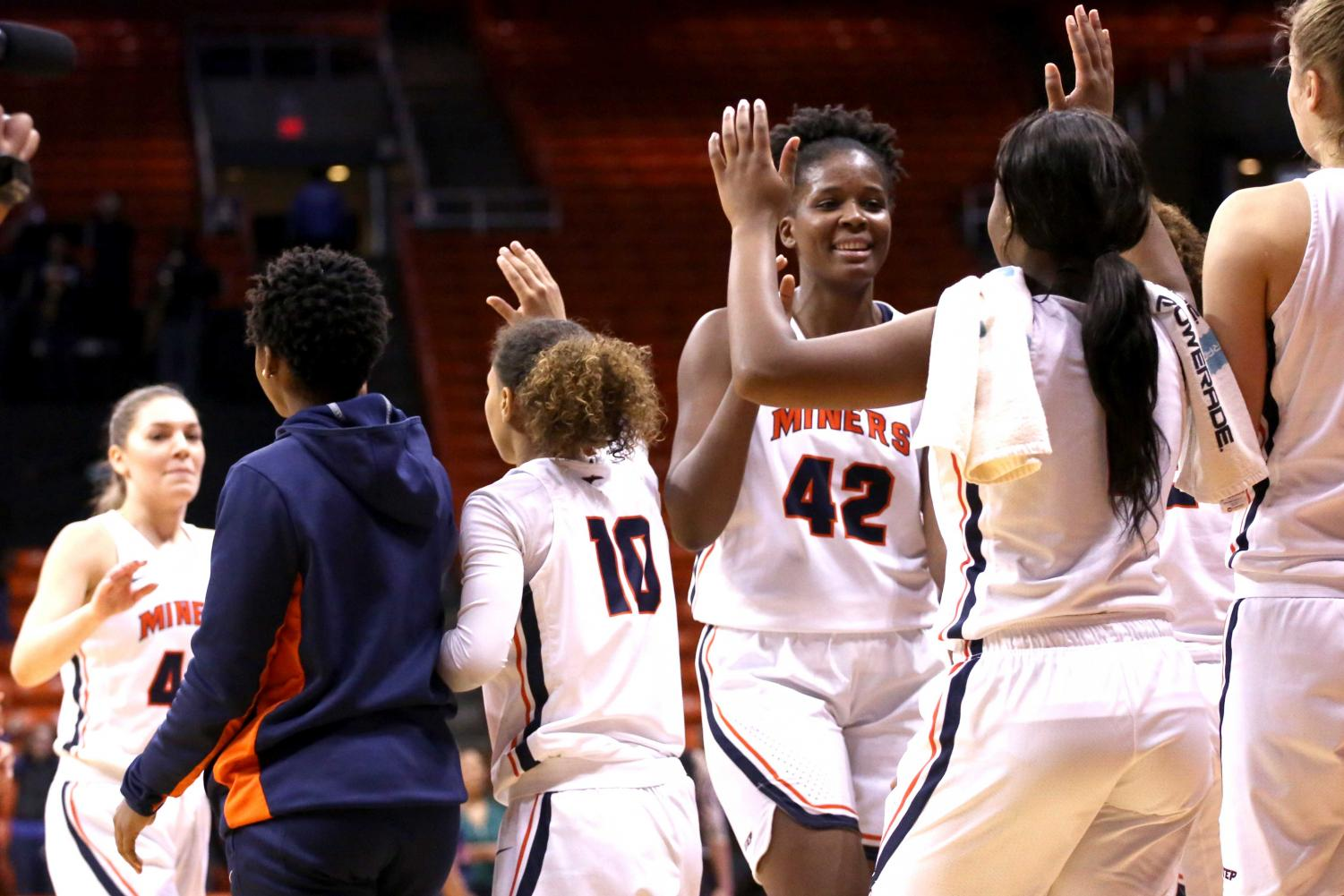 The UTEP women's basketball team leads Conference USA in rebounding margin with a 7.3 advantage on the boards per game.