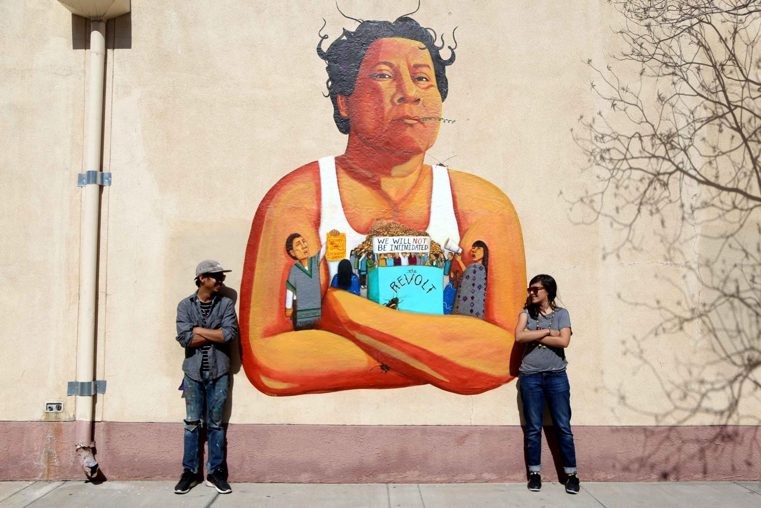 "Los Dos Maintain Studio were commissioned to paint a mural for ""The Rise and Fall of the Brown Buffalo"" documentary."