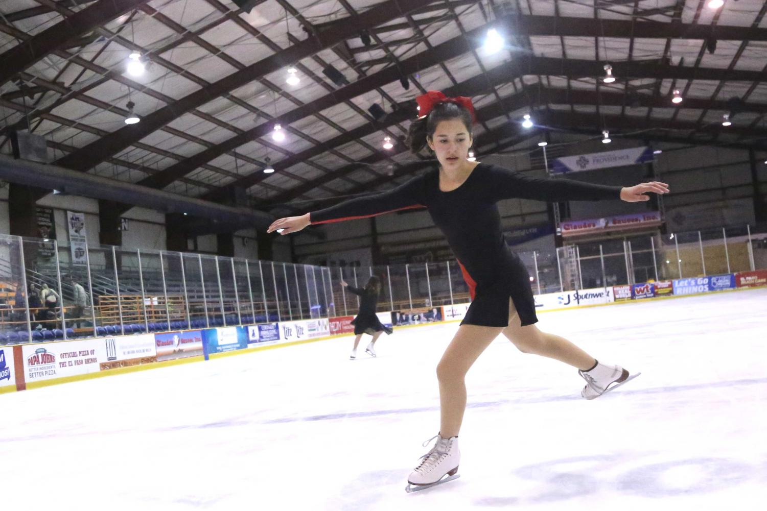 Amanda Amparan has been figure skating for years since she was 5 years old.
