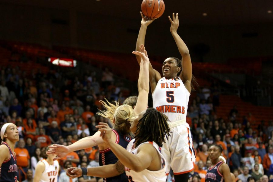 Kayla Thornton leads UTEP's women's basketball in points, rebounds, doubles doubles and field goals made in program history.