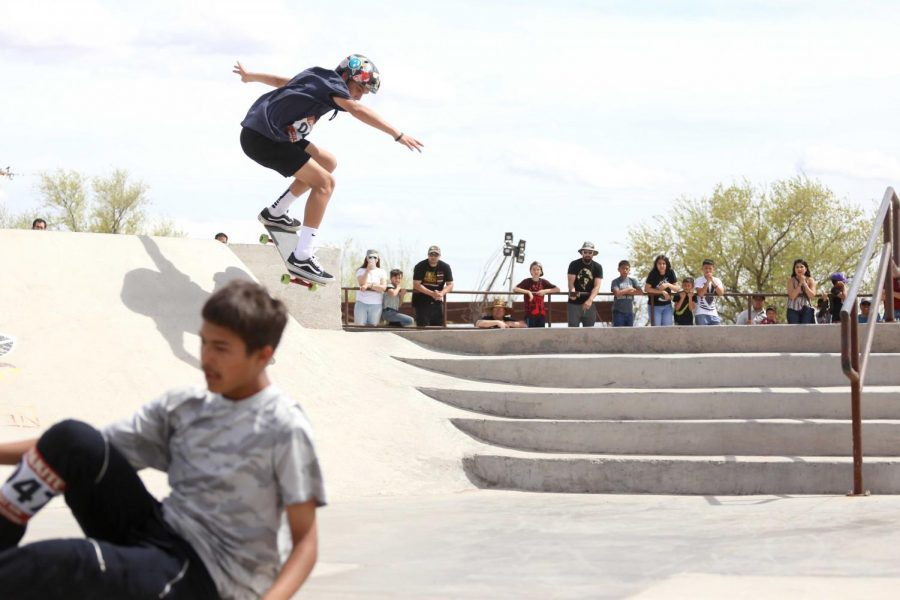 12-year+old+skater+Gavin+competes+in+the+advanced+category+of+the+competition+at+the+Pakitu+Skate+Plaza+on+Saturday%2C+March+24.++