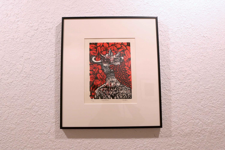 Susan+Gonzalez%27s+piece+entitled+%22Pain+Killer%22+for+the+the+second+Horned+Toad+Print+Exhibit+on+Thursday.+March+22+at+la+Galeria+de+la+Mision+De+Senacu.++