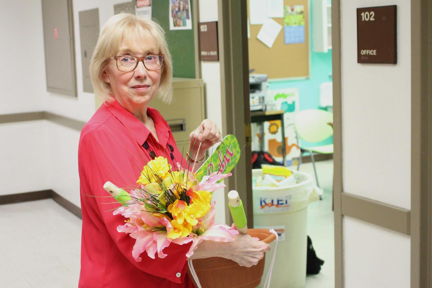 The forensics team hosted a retirement pot luck for Mary Trejo on April 25.