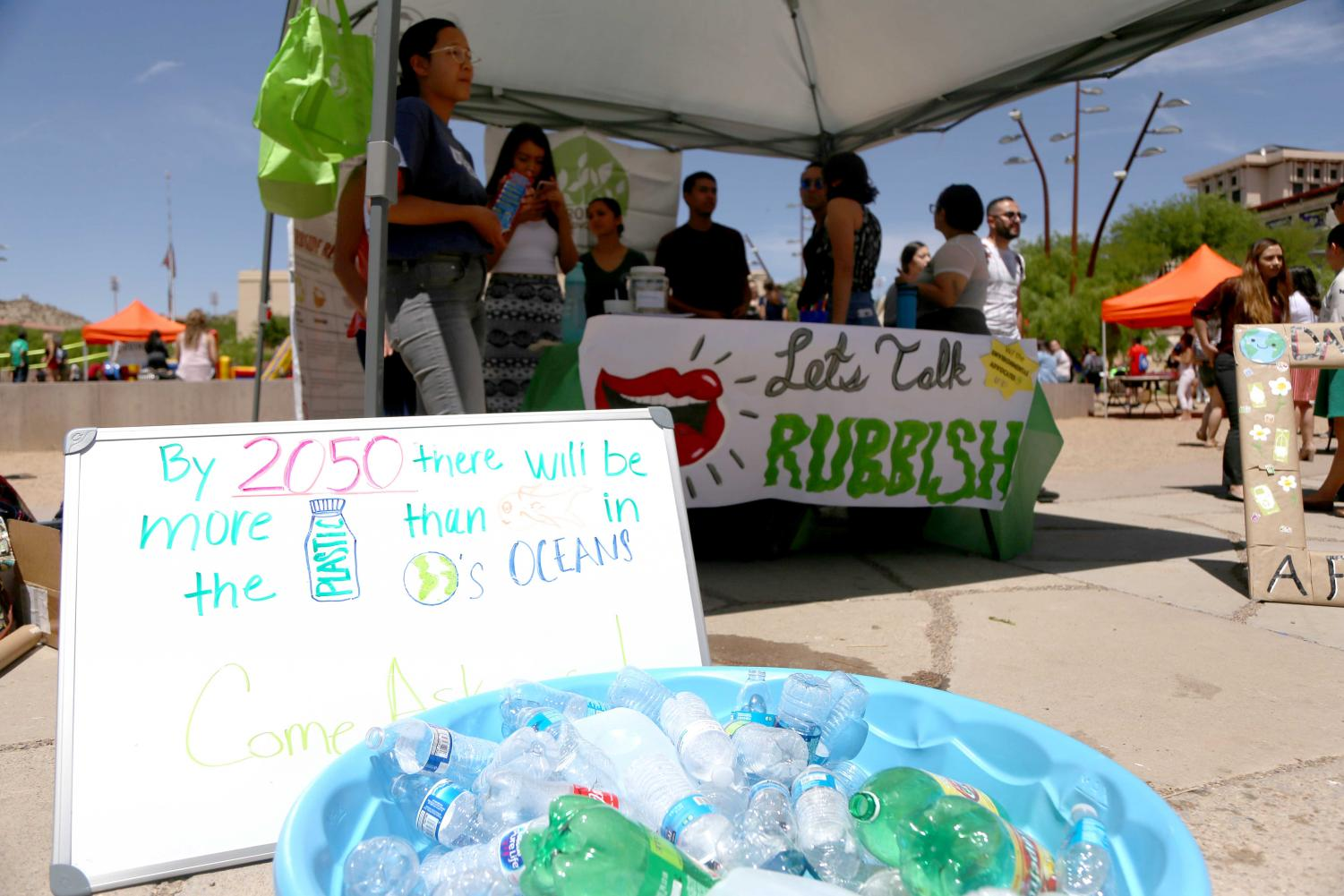 Information+about+recycling+was+given+at+one+of+the+booths+at+the+first+Miner+Fest+on+Wednesday%2C+April+18+at+Centennial+Plaza.+