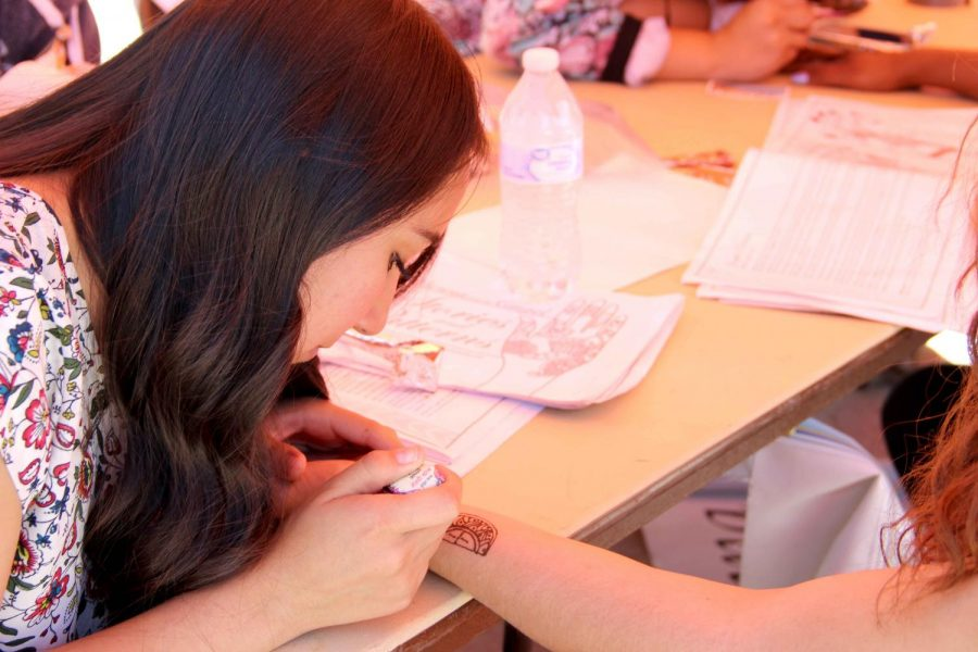 Students had the opportunity to get a henna tattoo  at the first Miner Fest  on Wednesday, April 18 at Centennial Plaza.