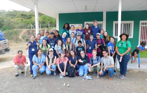 UTEP Medical Brigades pose with students from St. Louis University