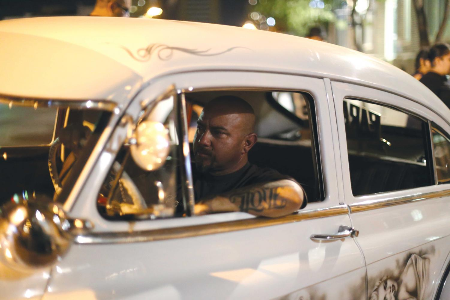 Paradise CarClub president Sergio Cabral drives his Marilyn Monroe fleet line at Heritage Cruise Nights every Sunday.