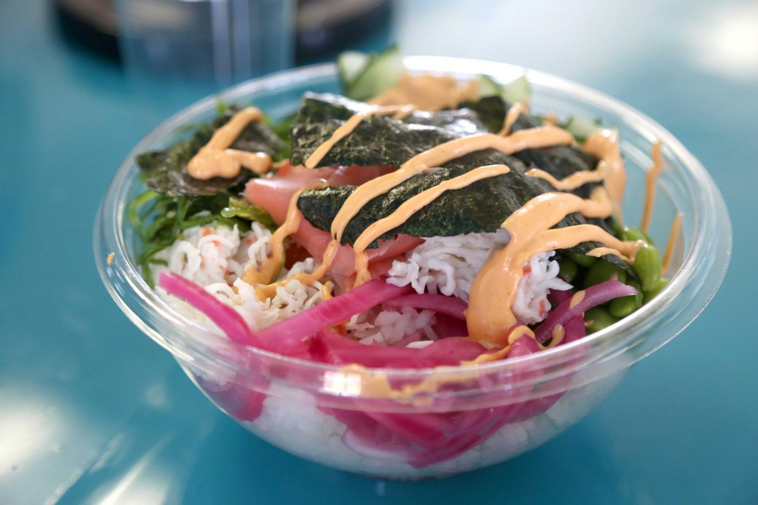Poke³ offers a variety of raw fish salads that can be customized for your health needs.